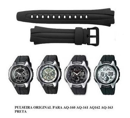 Pulseira Casio Aq-160-161-162-163 Kit Com 02 Melhor Preço