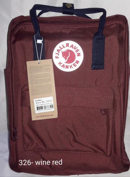 Mochila Fjallraven Kanken Classic - Color: Wine Red 326