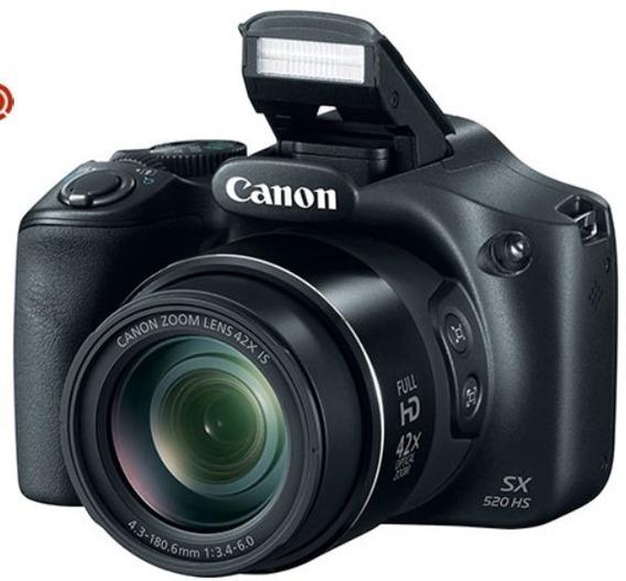 Câmera Semi Profissional Canon Power Shot 520hs