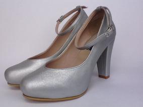 a33649876e3 Zapatos Plateados De Tacon Como Para Fiesta - Tacones para Mujer en ...