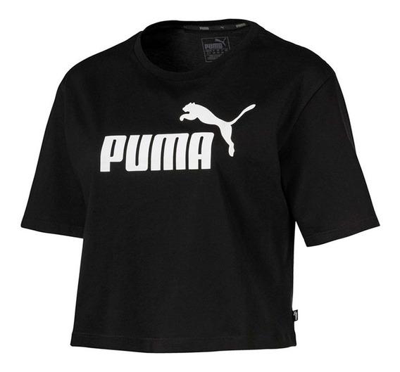 Remera Puma Ess+ Logo Heather Mujer 85259401
