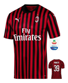 Camisa Milan Lançamento 19/20 Paquetá #39 Pronta Entrega