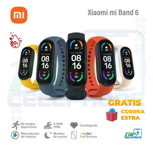 Xiaomi Mi Band 6 + Correa Gratis Oxímetro Cardiógrafo Amoled