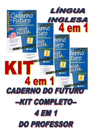 Caderno Do Futuro Ingles 6 Ao 9 Book 1,2,3,4, Do Professor