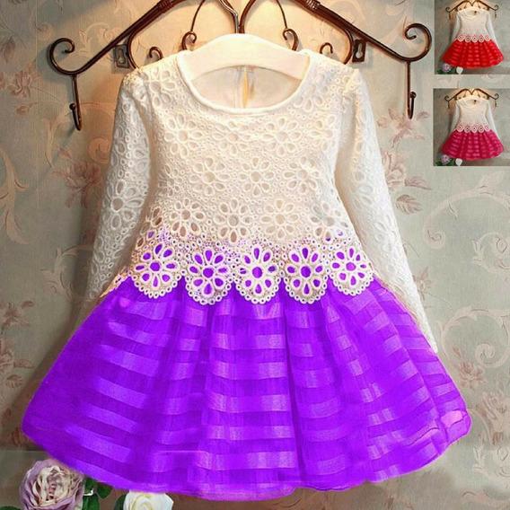 1 Vestido Infantil Para Festas