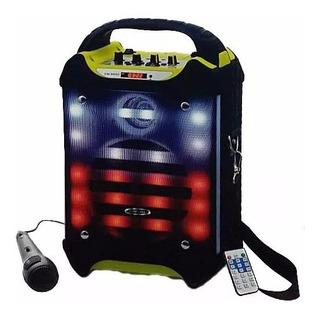 Parlante Karaoke Embassy M66 200w Bluetooth Bateria Mic Fm