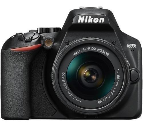 Câmera Nikon D3500 Dslr Lente 18-55mm Lançamento 12x S/juros