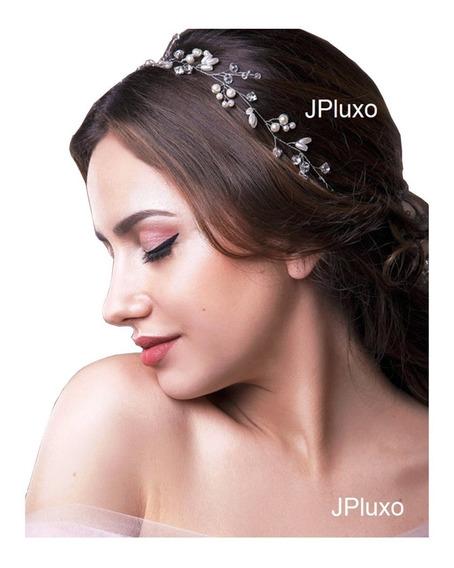 Arranjo Noiva Cabelo Acessorio Floral Tiara 1 Metro Lindo D+