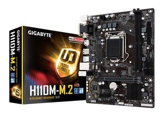 Placa-mãe Gigabyte P/ Intel Lga 1151 Matx Ga-h110m-m.2 Ddr4