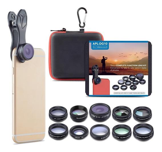 Binden Apexel Kit De Lentes Para Celular 10 En 1 Profesional Hd Compatible Con iPhone, Samsung Y La Mayoría De Celulares