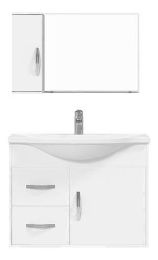 Conjunto Gabinete Espelheira Apus 80 Branco - Cerocha