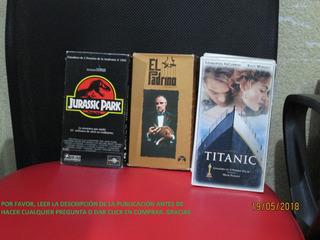 Jurassic Park, Titanic Y El Padrino En Vhs El Mejor Precio