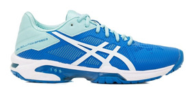 Tênis Asics Gel Solution Speed 3 Azul Celeste E Verde Água
