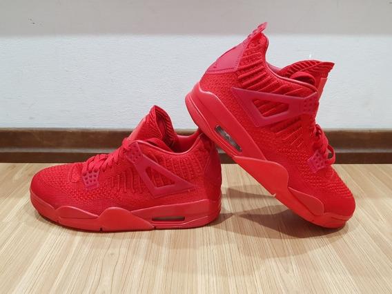 Air Jordan Retro 4 Red Flyknit