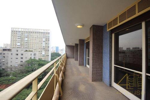 Prudência Na Avenida Higienópolis, 235 - Higienópolis.o Edifício É Patrimônio Histórico Do Bairro. 370 M², Varanda, 4 Dormitórios E 3 Vagas. - Ap2833