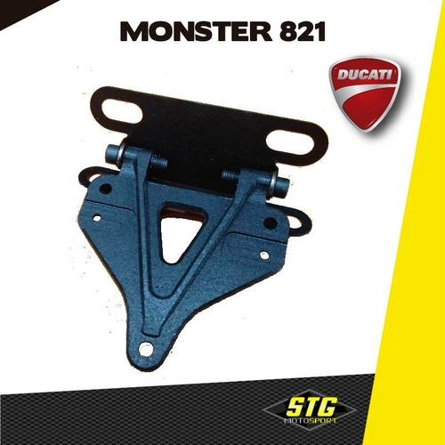 Portapatente Fender Rebatible Stg Ducati Monster 821