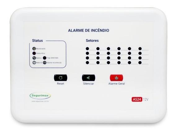 Central De Alarme De Incêndio 12 Setores C/bateria Segurimax