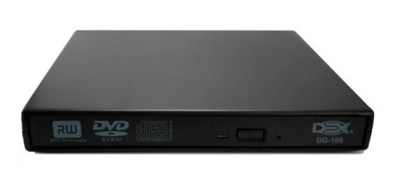 Gravador Leitor Cd / Dvd Driver Externo Slim Usb Notebook Pc
