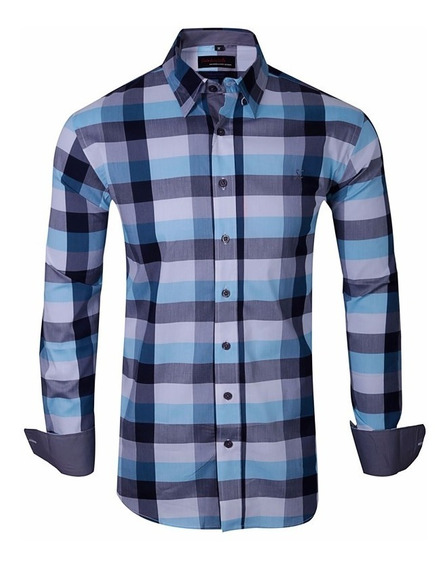 Camisa Elastizada Hombre Slim Fit - Quality Import Usa