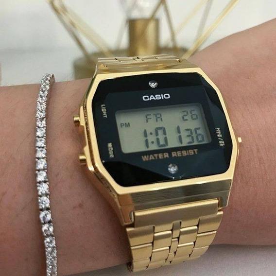 Relógio Casio Vintage Unissex Dourado Original Frete Grátis
