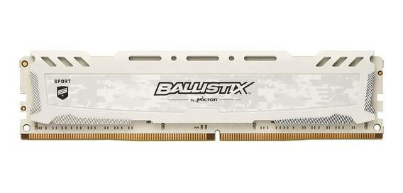 Memoria 8gb Ddr4 2400mhz Ballistix Sport Branco 12x