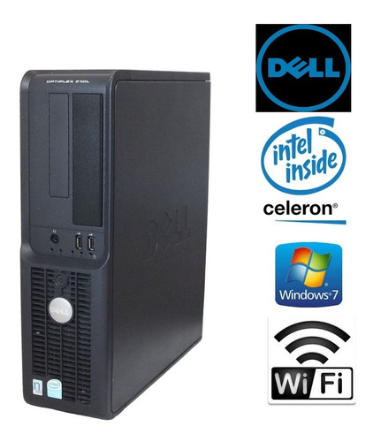 Imagem 1 de 3 de Pc Dell Optiplex 210l Intel Celeron 4 Gb Ram Win 7 Wi-fi