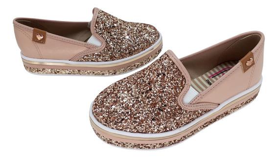 Tênis Infantil Molekinha Menina Slip On Com Glitter 25201109
