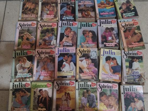 Lote Com 200 Livros De Romances Julia Sabrina E Bianca