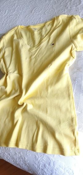 Remera Tommy Hilfiger Mujer Escote V Original Importada Usa