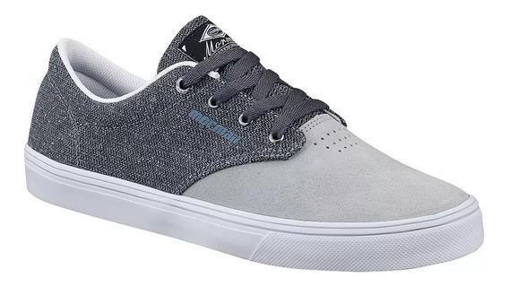 Tênis Couro Jack Ice/branco Unissex Mormaii Skateboard 10619