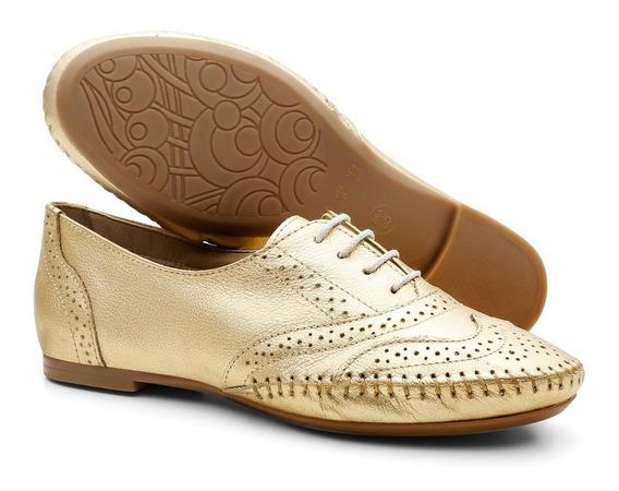 Sapato Oxford Feminino Em Couro Lançamento De Inverno 015360
