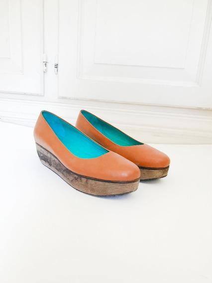 Zapatos Balerina Con Plataforma Sofi Martiré
