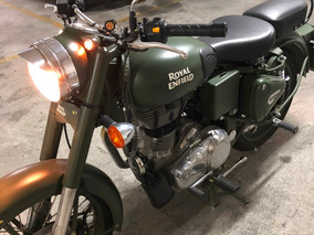 Royal Enfield Classic 500 Battle Green 2017 = 0km 170 Kms.!