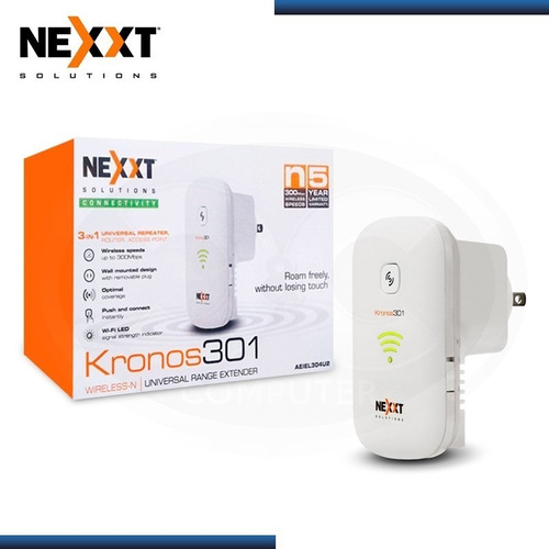 Repetidor Wifi Extensor Wireless Nexxt Kronos 304u2  300mbps