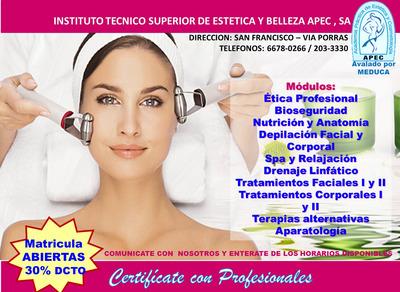 Curso De Estética Y Cosmetologia Cert. Por Meduca