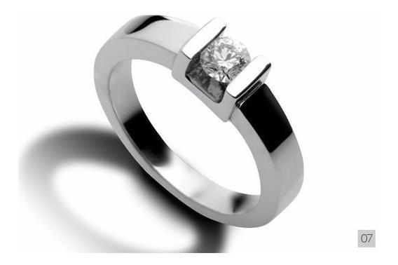 Nuevo Anillo Compromiso Plata Oro Con Diamante Real Regalo