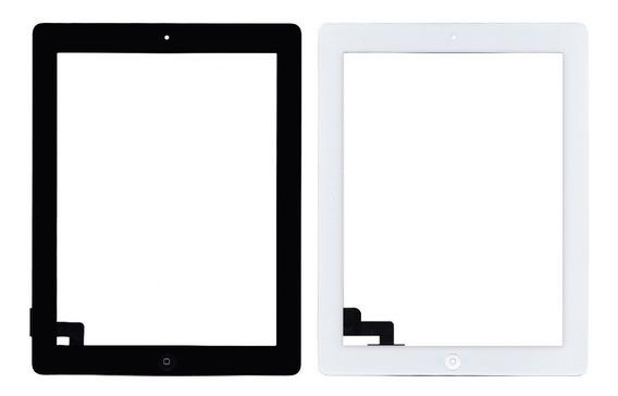 Tela Vidro Touch iPad 2 + Home + Adesivo A1395 A1396