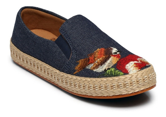 Slip On Florence Jeans Escuro 100.1204