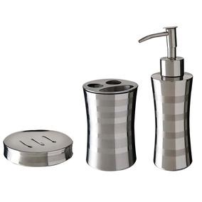 Kit Banheiro Porta Sabonete Escova E Saboneteira Mor Relux