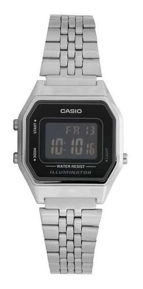 Relógio Feminino Casio Digital Prateado Vintage La680wa-1bdf