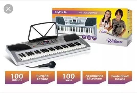 Teclado Key Pro Waldman 54 Teclas Kep-54 Microfone