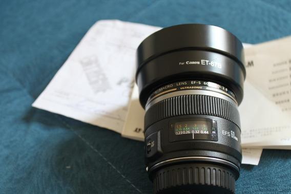 Lente Canon Ultrasonic Ef-s 60mm F/2.8 Macro Usm