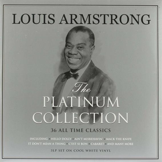 Lp Louis Armstrong The Platinum Collection 3lps Leia Descriç
