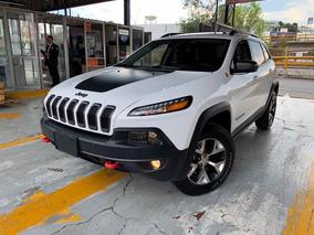 Jeep Cherokee 3.2 L V6 Piel Quemcocos Gps Trailhawk At 2017