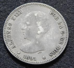 Moeda Prata 835 5gr 23,5mm Espanha Rei Alfonso Xiii Bebê