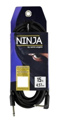 Cabo Violão Guitarra Santo Angelo Ninja 15ft 4.57 Plug Em L
