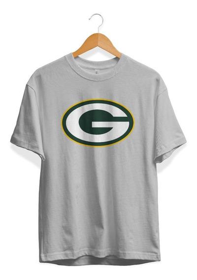 Remera Futbol Americano Nfl Green Bay Packers Color Gris