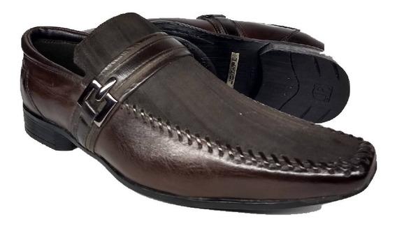 Sapato Jota Pe Marrom Com Trabalhado No Couro