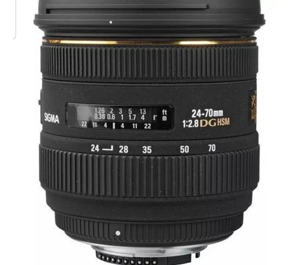 Lente Objetiva Sigma P/nikon 24-70mm F2.8 If Ex Dg Hsm D82