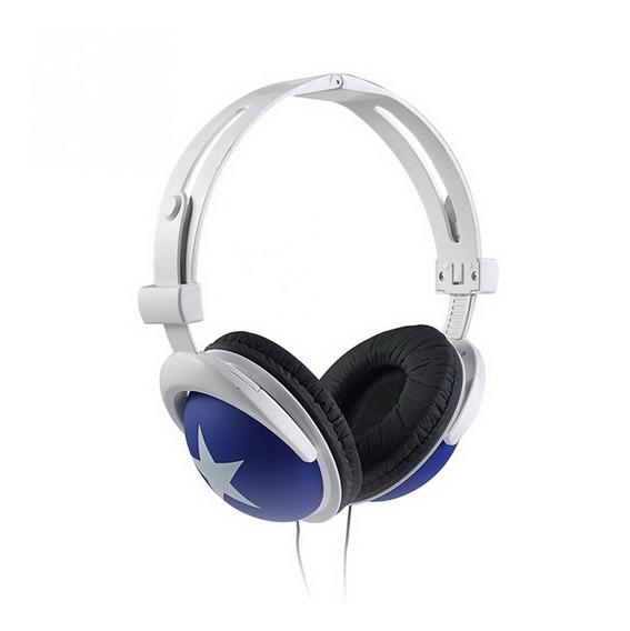 Fones De Ouvido Baixo 3.5mm Com Fio Impresso Estrela Ear-cap